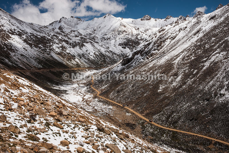 Trola Pass enroute to Derge, Tibet -Sichuan Highway, Tea Horse Road.