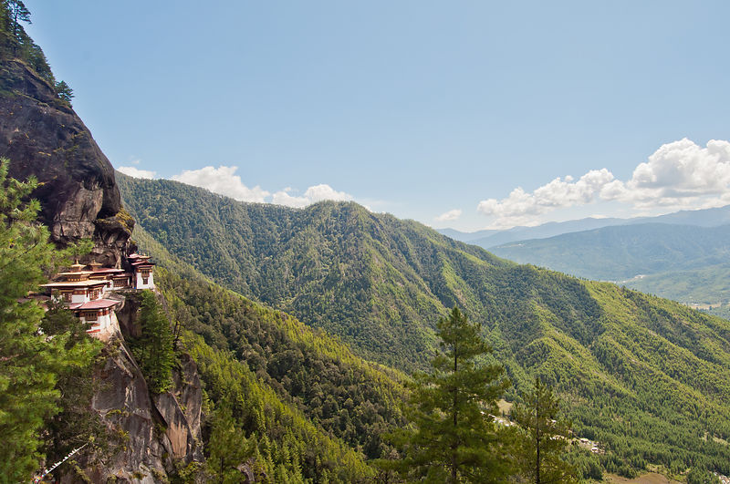 This photograph of the Paro Taktsang Monastery was shot in Bhutan.