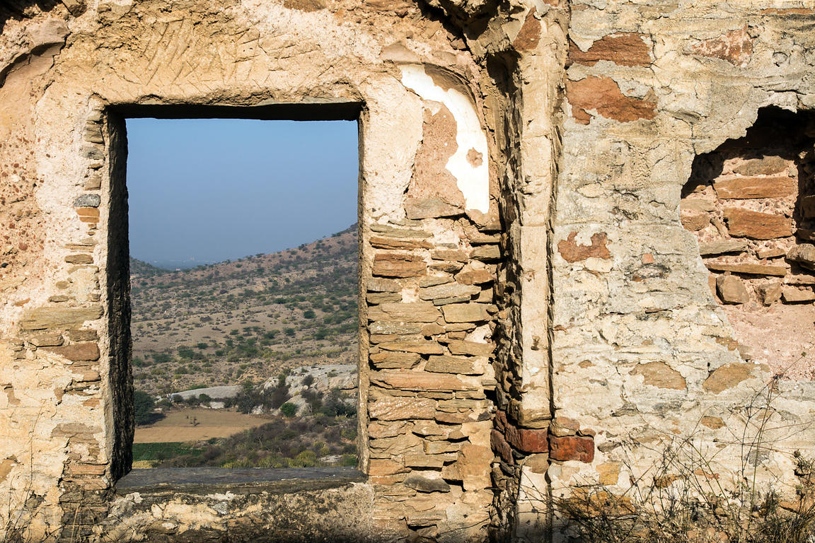 Ruinous Rajgarh fort, Rajgarh village, Rajasthan, India