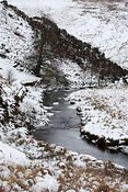 River Barle in winter at Simonsbath, Exmoor National Park
