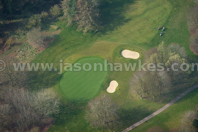 Aerial view of St.Pierre Golf course, Chepstow, Wales