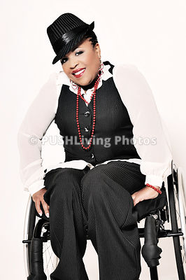 Studio shots of woman in a wheelchair
