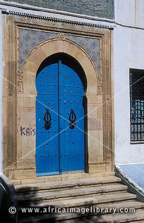 traditional door in the medina, Sfax, Tunisia