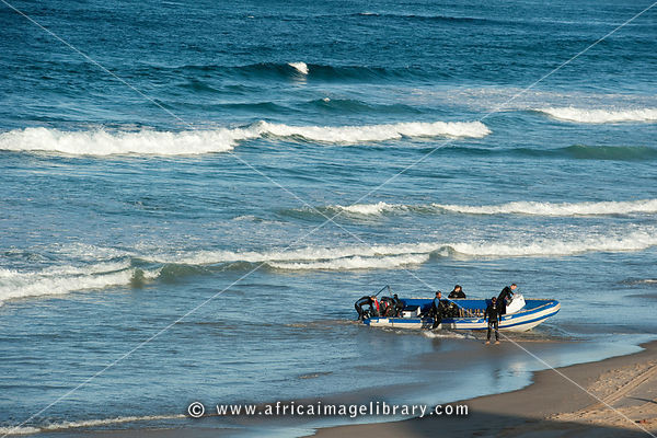 Boat on the beach, Tofo, Mozambique