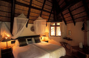 Djuma bush camp, bedroom, Sabi Sands Game Reserve, South Africa