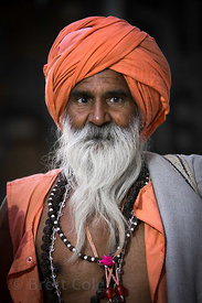 Elderly sadhu in Pushkar, Rajasthan, India