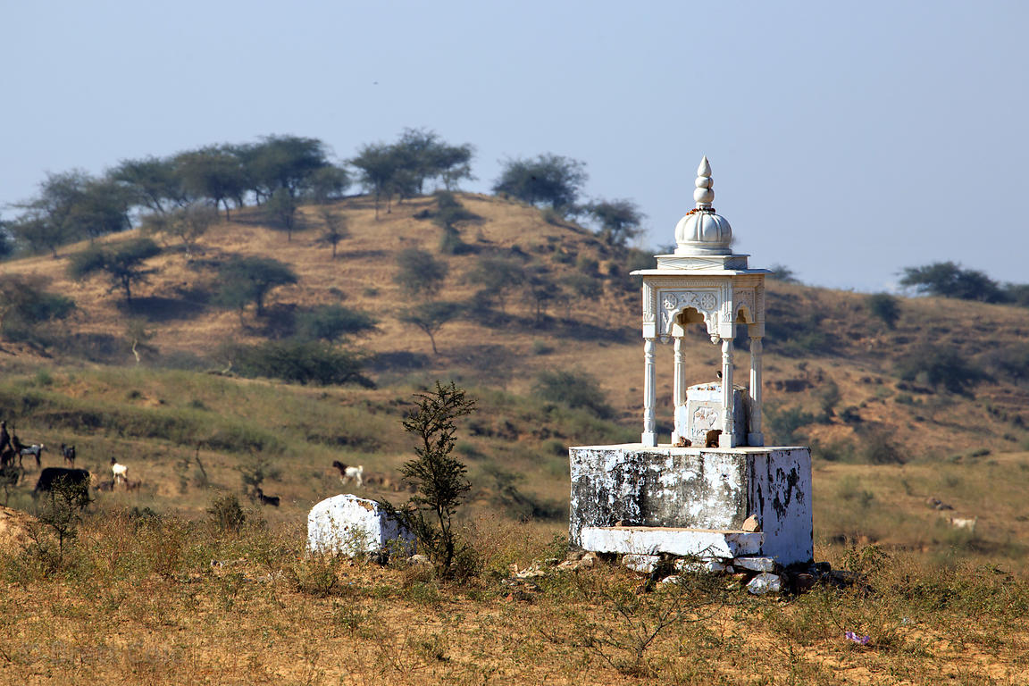 Small temple in the desert near Pushkar, Rajasthan, India