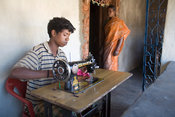 Baga Mata and his sewing machine