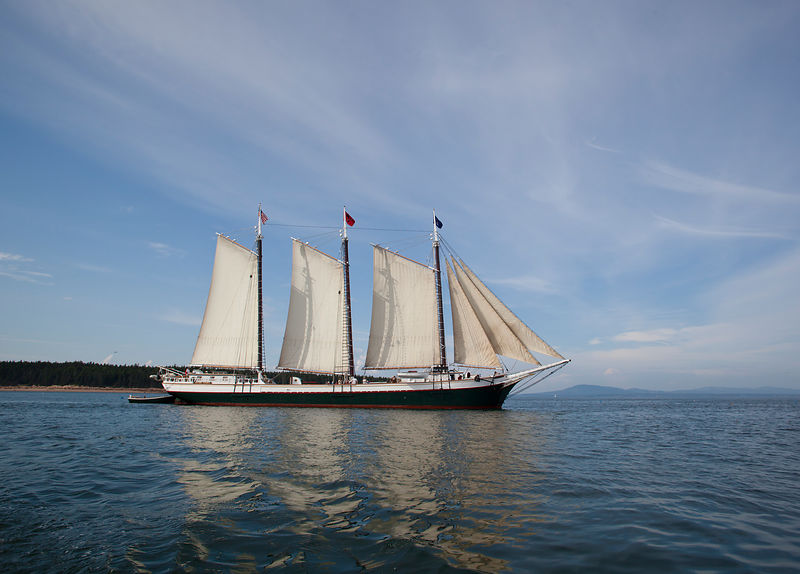 Victory Chimes Schooner off coast of Maine