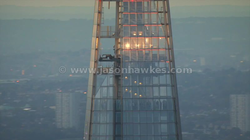 Aerial footage of The Shard