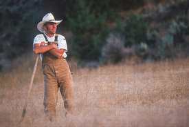 JOHN TOMAC AT HOME ON HIS RANCH CIRCA 2000
