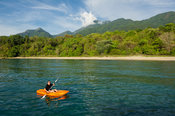 Canoeing on Lake Tanganyika, Mahale Mountains National Park, Tanzania