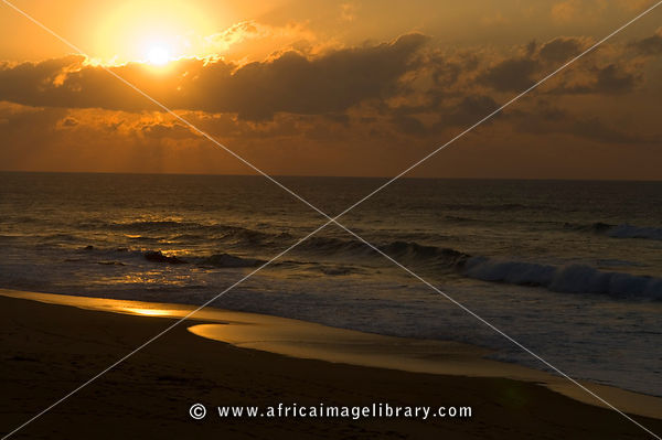 Beach at sunrise, Maputaland, Kwazulu-Natal, South Africa