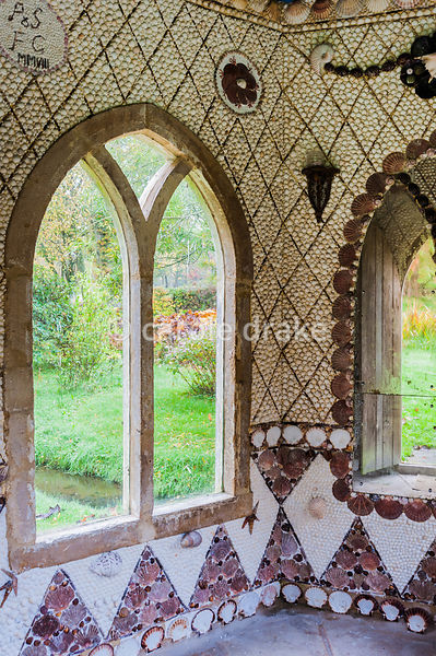 Shell grotto, Pen Mill Farm, Pen Selwood, Somerset. Made by Sarah and Peter Fitzgerald