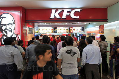 KFC restaurant in South City Mall, Jadavpur, Kolkata, India. India's middle class is fighting the beginnings of an obesity ep...
