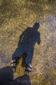 Shadow Selfie along Merced River in Yosemite National Park