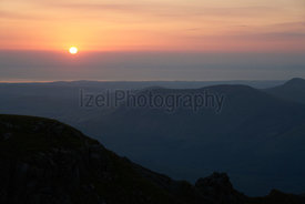 Sunset over Ennerdale In the English Lake District, UK.