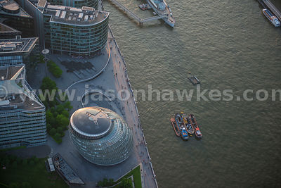 Aerial view of City Hall, London