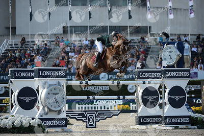 Pedro VENISS ,(BRA), RISSOA D AG BOIS MARGOT during Longines Cup of the City of Barcelona competition at CSIO5* Barcelona at ...