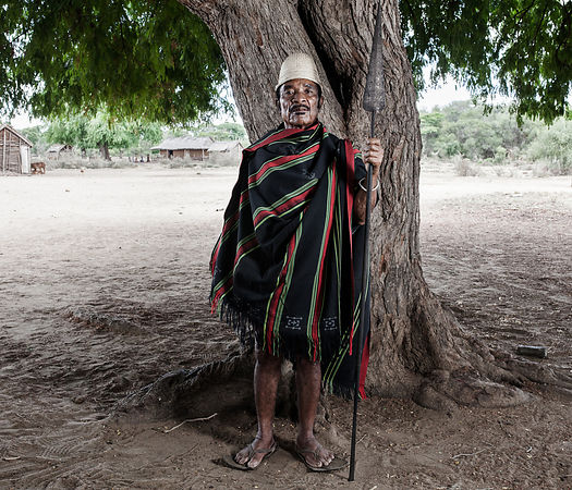 ANKAZOTA LOCALITY - EFIONJONANE says he is the King of the Mahafaly ethnic group. He's 80 years old. Its power extends over t...