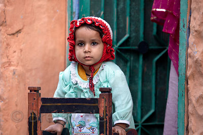 Toddler in Jodhpur, Rajasthan, India