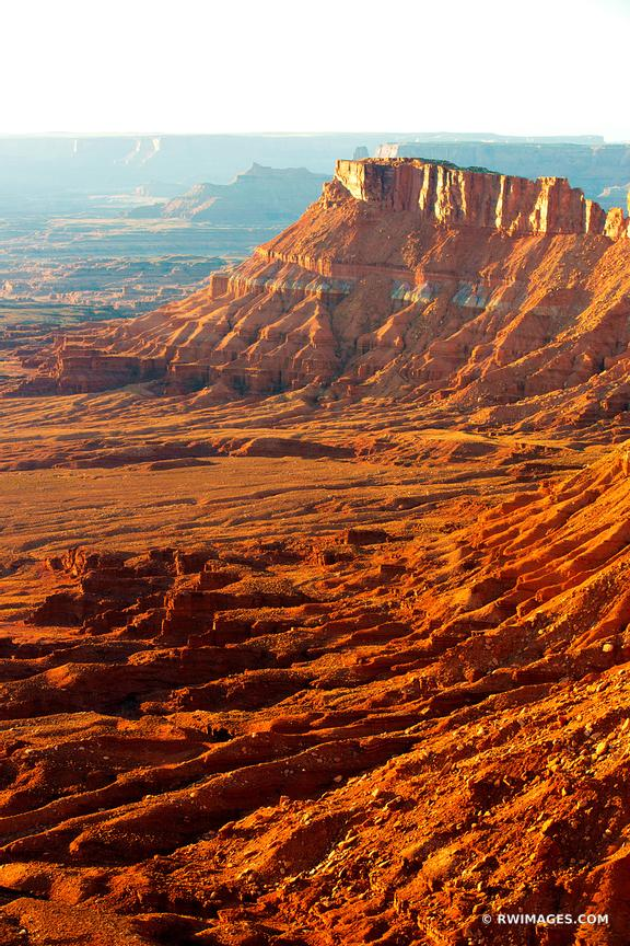 NEEDLES OVERLOOK  SUNSET CANYONLANDS NATIONAL PARK UTAH COLOR VERTICAL