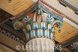 Painted Corinthian Column at Philadelphia Museum of Art