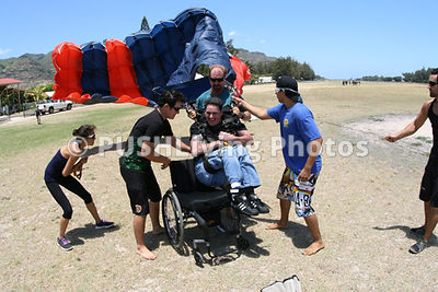 Skydive into chair landing