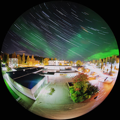 Northern lights above the city of Lahti on Oct 7 2018.