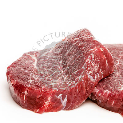 Raw fresh beef on white background