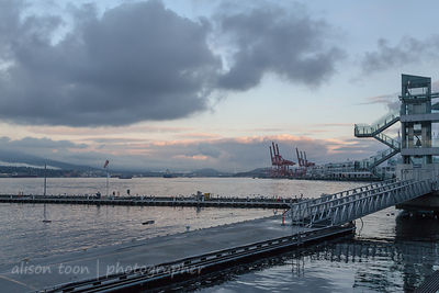 Vancouver Harbour on a fall or autumn evening
