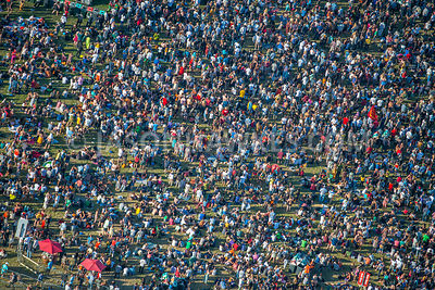 Aerial view, crowds, festival, crowded, people,