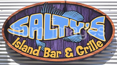 Clearwater Beach  Florida - Salty's Island Bar & Grille Sign