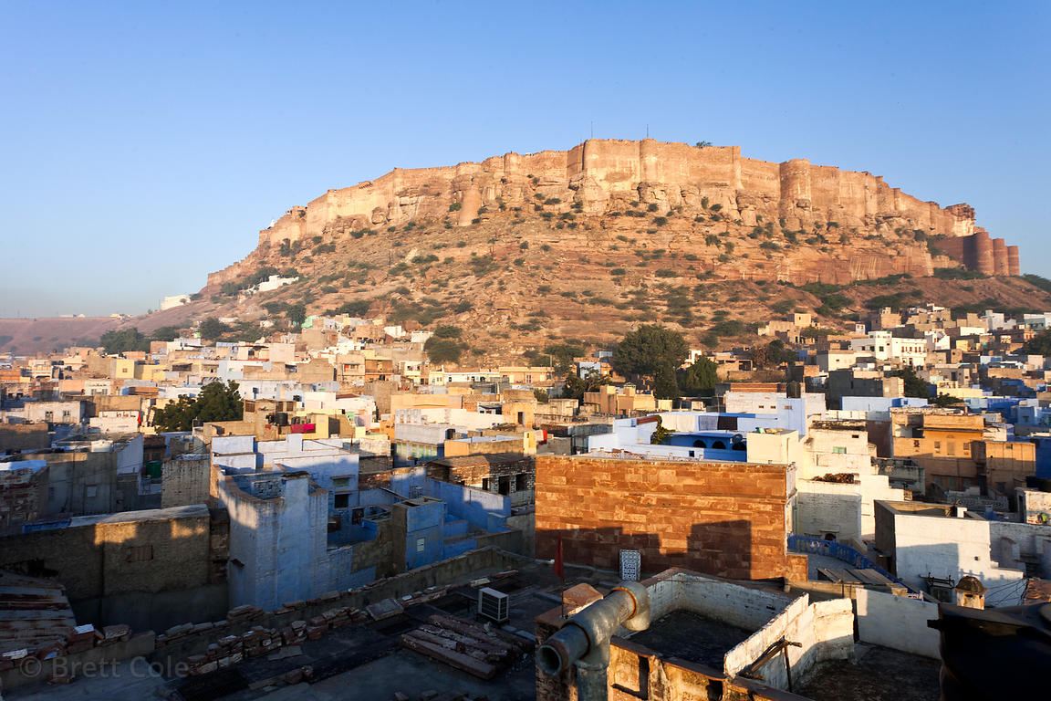 The massive Mehrangharh Fort, Jodhpur, Rajasthan, India