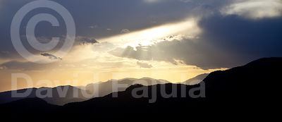 Serra d'Ensija (Ensija range) at sunset. View from Coll de Jou