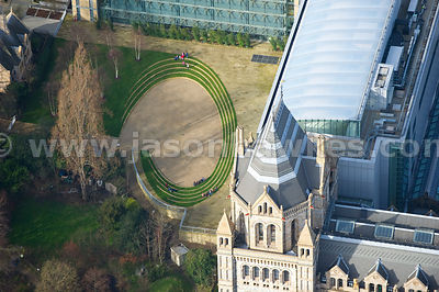 Close up of gardens at the Natural History Museum, London