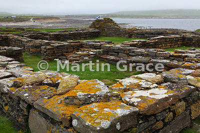 Remains of a twelfth century church and monastery, Brough of Birsay, West Mainland, Orkney