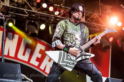 Jason Hook of Five Finger Death Punch, Aftershock 2014