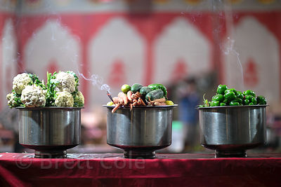 Vegetables at a food stall at the Pushkar Camel Fair, Pushkar, Rajasthan, India