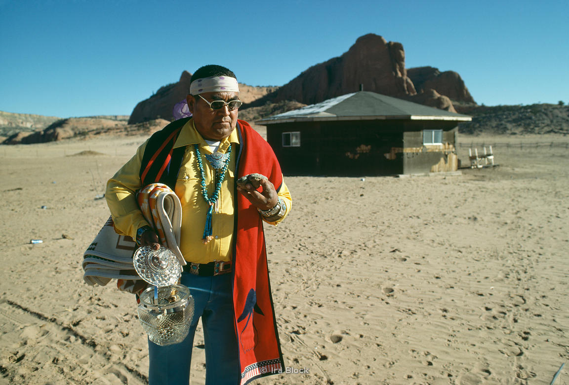 Navajo Medicine man with peyote, Arizona