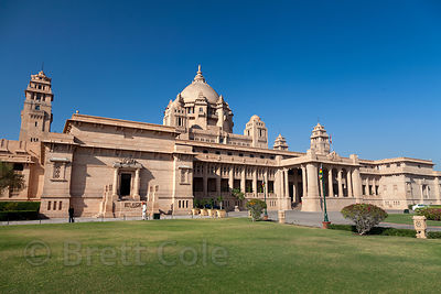 Umaid Bhawan Palace, the largest private residence in the world, Jodhpur, Rajasthan, India