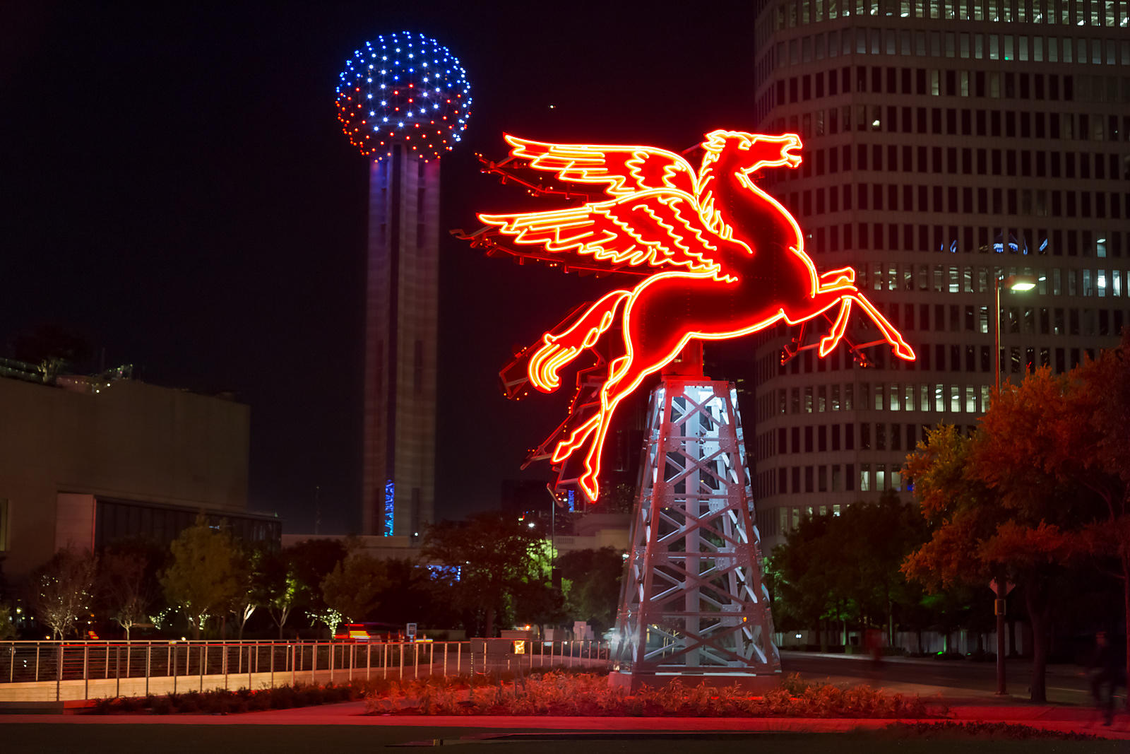 Pegasus and Reunion Tower