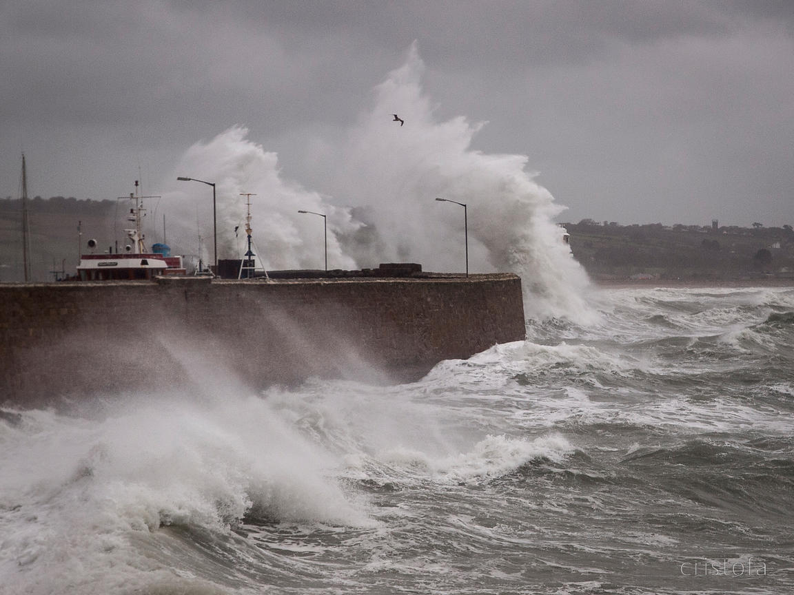 stormy weather in Penzance