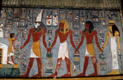 painting  in the burial chamber in the tomb of Rameses I, Valley of the Kings, Luxor, Egypt