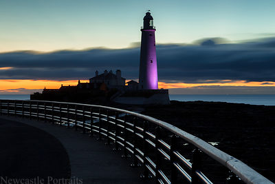 St. Mary's Lighthouse before sunrise