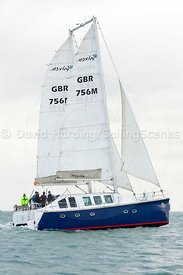 Ra, GBR765M, Moxley 12 catamaran, Round the Island Race 2017, 20170701049