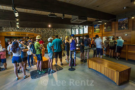 Visitors Waiting to Talk to Ranger in Yosemite National Park Visitor Center