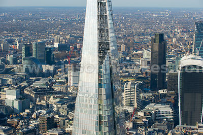 Aerial view of The Shard viewing platform, london