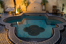 A view of a pool in the Medina in Fes, Morocco.