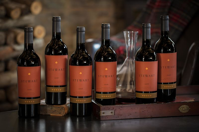 Wine beauty photography for Stewart Cellars in Napa Valley by Jason Tinacci